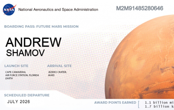 Send Your Name to Mars 2021